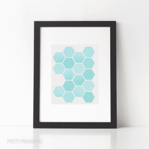 Hexagons free printable at prettyprovidence.com