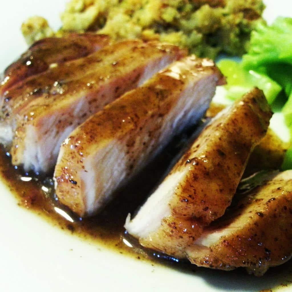 Freezer Meal: Apple Balsamic Pork Chops @ amandathevirtuouswife.com