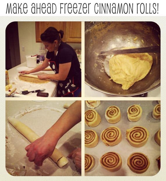 Make-ahead freezer cinnamon rolls!