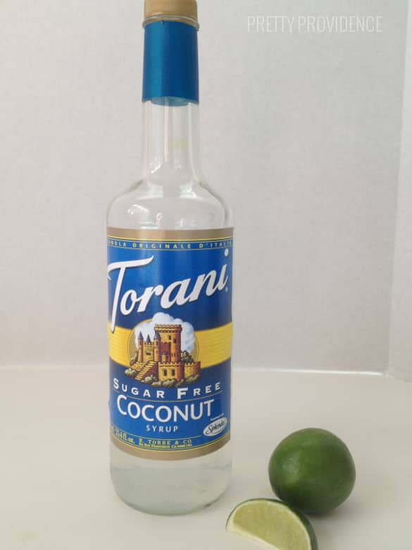 coconut syrup & lime
