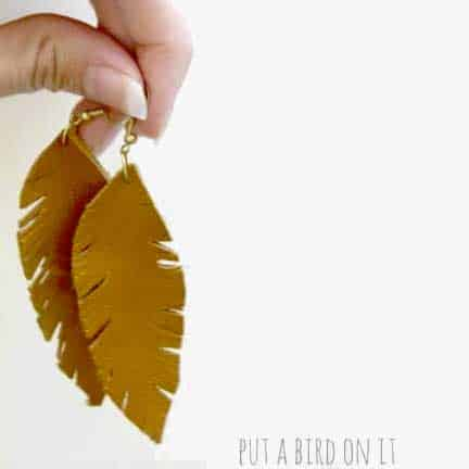 """DIY Leather """"Feather"""" Earrings"""