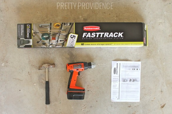 fast track organizer - so easy to install and will get your garage cleaned up so easily!