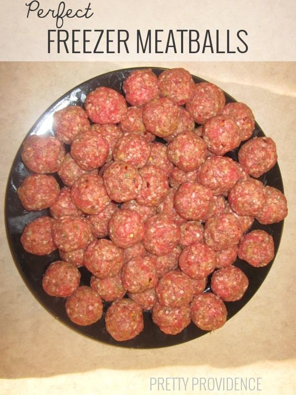 perfect freezer meatballs!