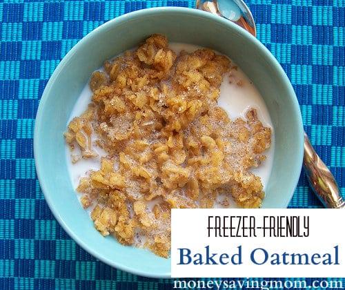 Freezer Friendly Baked Oatmeal @ MoneySavingMom.com