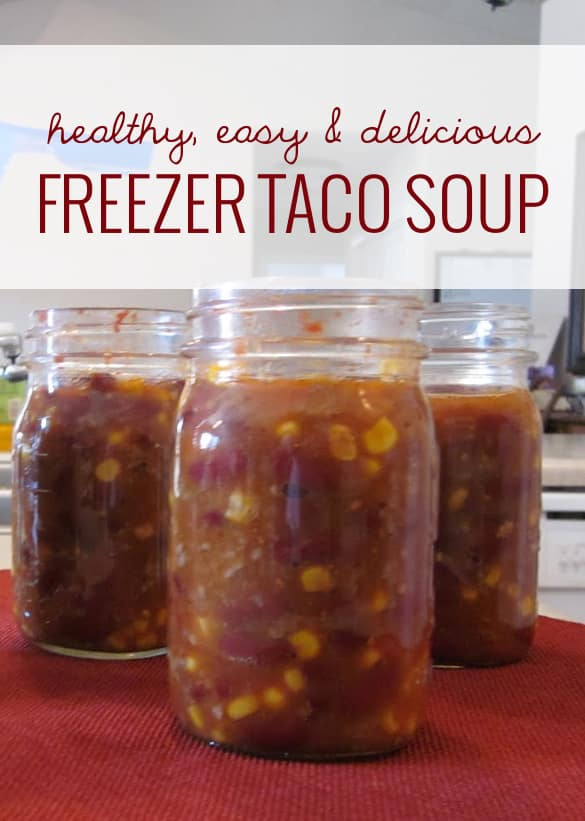 This freezer taco soup is so delicious, so easy, so cheap, so fast, freezes so well, and *bonus* it's healthy.