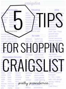 5 tips for easier craigslist shopping!