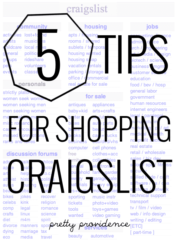 5 tips for easier craigslist shopping!