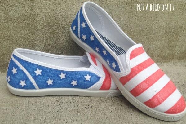 DIY patriotic shoes3