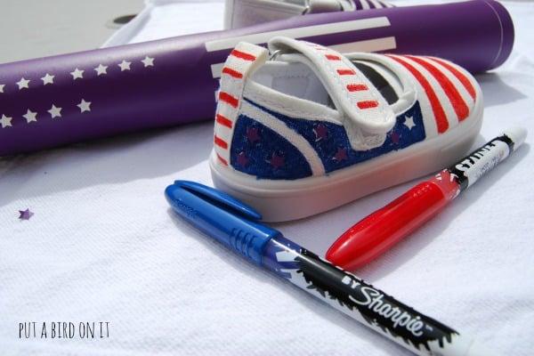 DIY patriotic shoes8