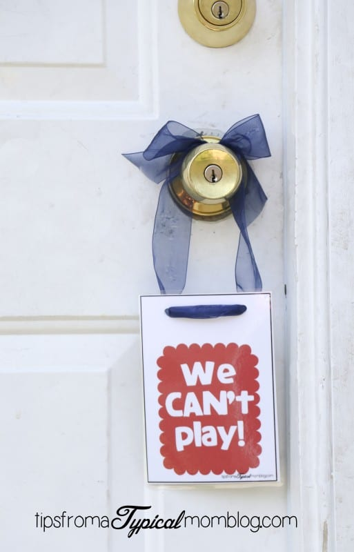 We Can / Can't Play Door Hangers Free Printable