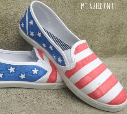 DIY Mommy & Me Patriotic Shoes