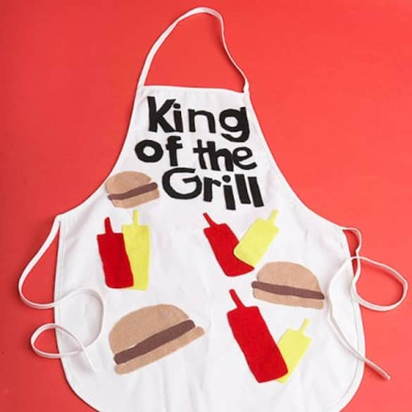 King of the Grill Apron | 12 Easy Father's Day gift ideas