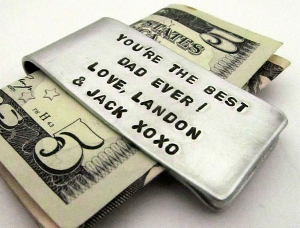 Best Dad Ever Money Clip | 12 Easy Father's Day gift ideas
