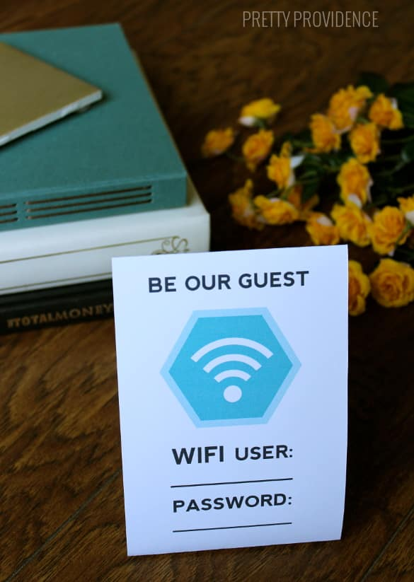 """Free """"Be Our Guest"""" WiFi Printable"""