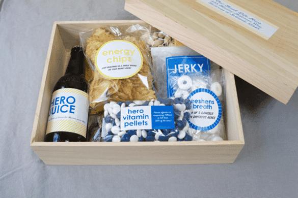 Superhero Gift Box | 12 Easy Father's Day gift ideas