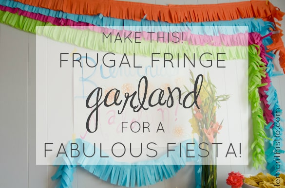 DIY Fringe Garland - Perfect for a fiesta or any kind of party, and it's cheap - all you need is tissue paper! via Pretty Providence + Lemon Thistle