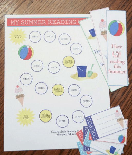 Summer Reading Chart & Reward System