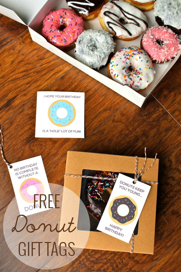 Free Printable Donut Gift Tags For Birthdays