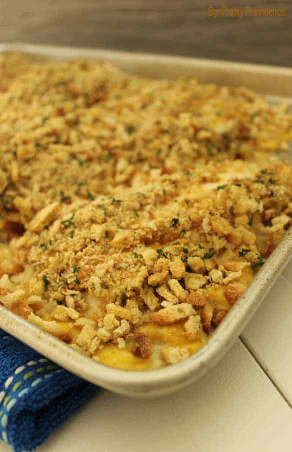 Easy chicken and stuffing bake! A perfect weeknight meal, super easy to throw together and the whole family will enjoy it!