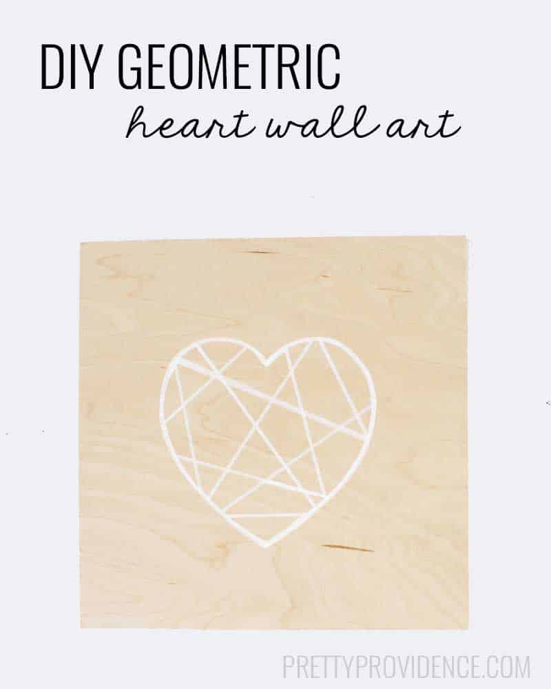 Easy geometric heart on balsa wood! Cute, modern, fun addition to a gallery wall!