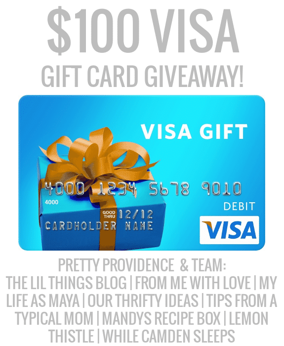 $100 Visa gift card giveaway! Pretty Providence & Team