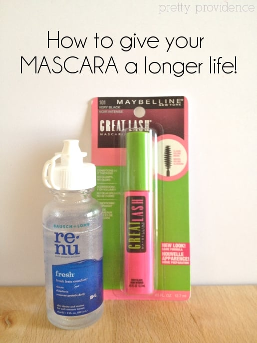 mascara life hack: don't throw away mascara just because it's clumpy, renew it & make it last a longer!