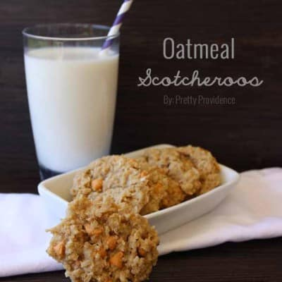 These oatmeal scotcheroos are seriously to die for! A fun change from chocolate chip.. my family gobbled up the whole batch!
