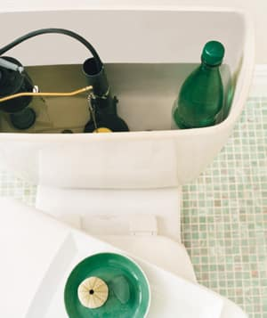 put a soda bottle in your toilet tank - save money and water!