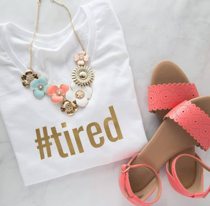 Easy DIY Hashtag T-Shirts