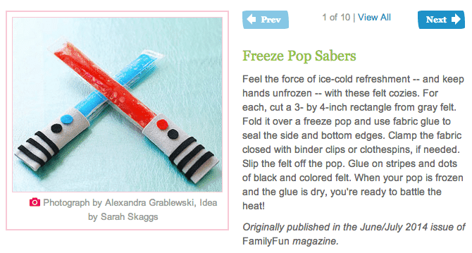Family Fun Freezer Pop Sabers