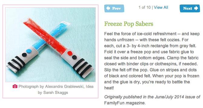 Family Fun Freezer Pop Sabers