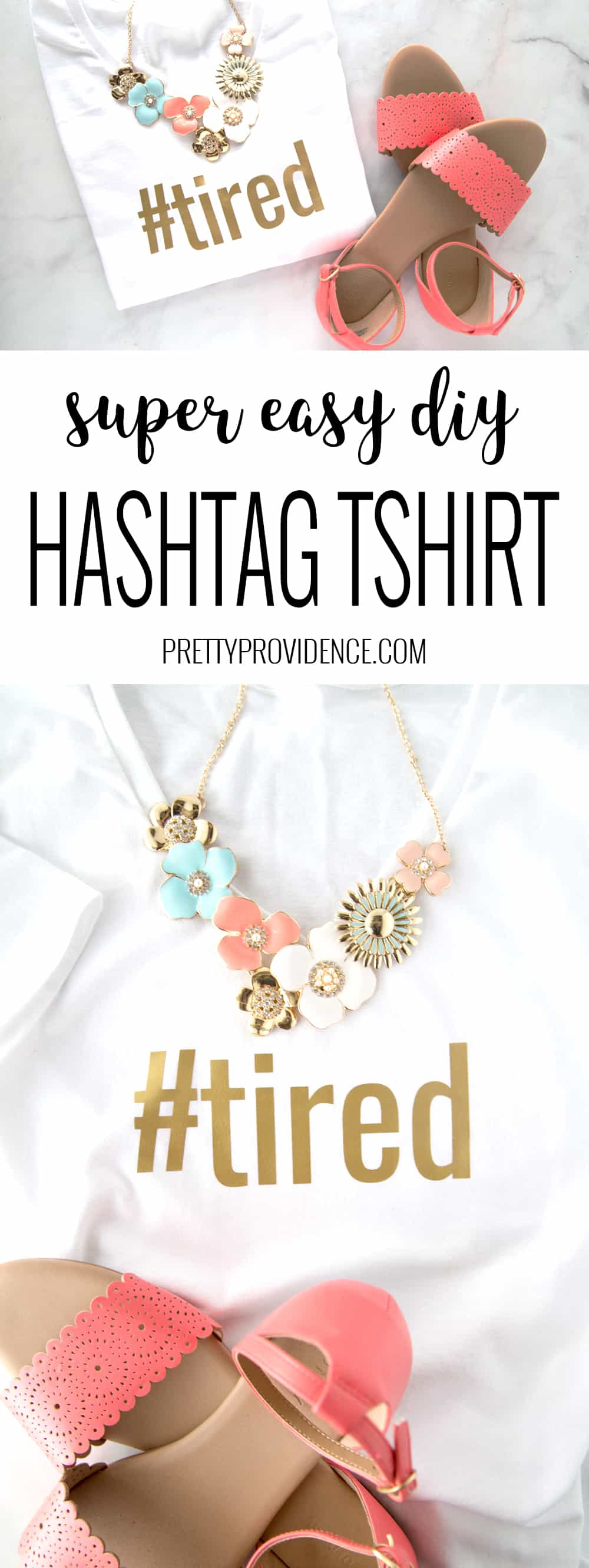 How fun are these easy hashtag DIY T Shirts?! I love them so much! The best part is that you can totally customize them to fit anybody so they make the perfect gift!