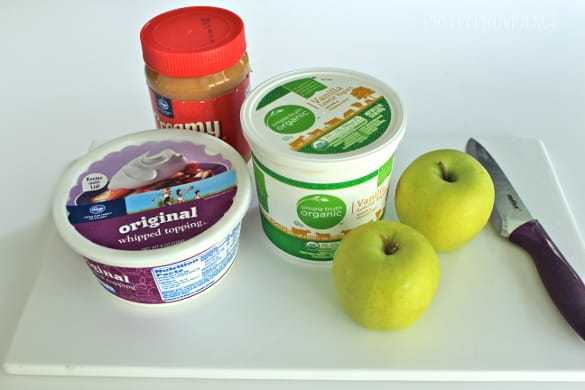 Creamy peanut butter apple dip. This is the most delicious dip you'll ever eat!