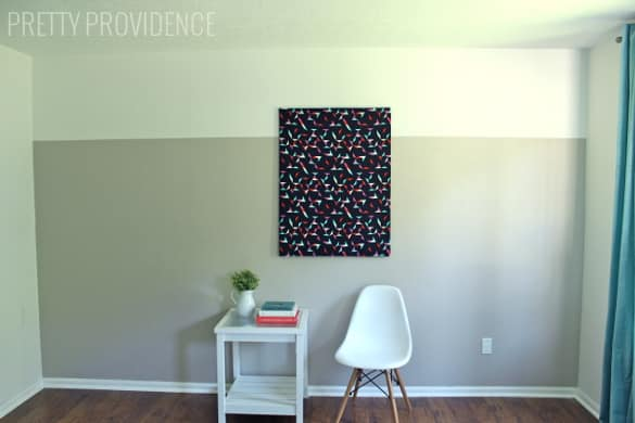 DIY Two-Tone Accent Wall. Easy way to add a modern touch to your home!