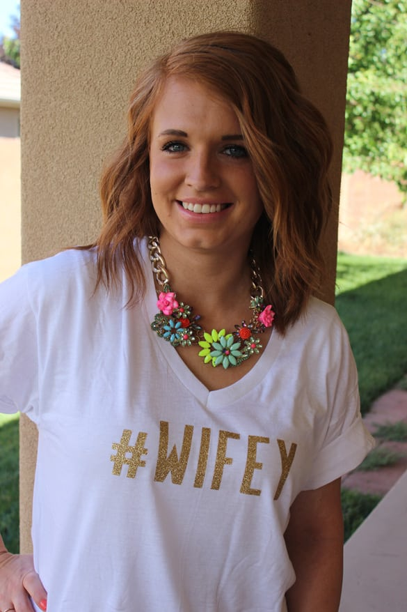 Super easy DIY #hashtag t-shirts! Make it say whatever you want! Fun girls night idea..