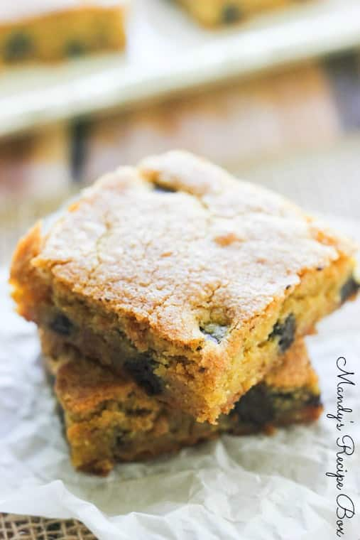 Chocolate Chip Pumpkin Spice Bars