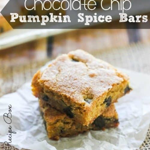 Chocolate Chip Pumpkin Spice Bars