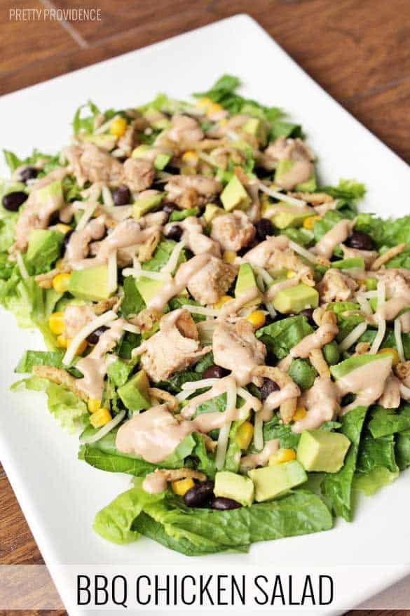 BBQ Chicken Salad - Quick, healthy, and delicious!