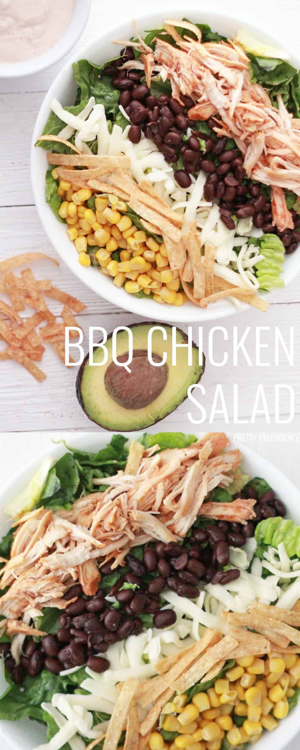 You will love this BBQ Chicken Salad recipe! It's such an easy dinner idea that is both healthy and tastes amazing! Five stars!