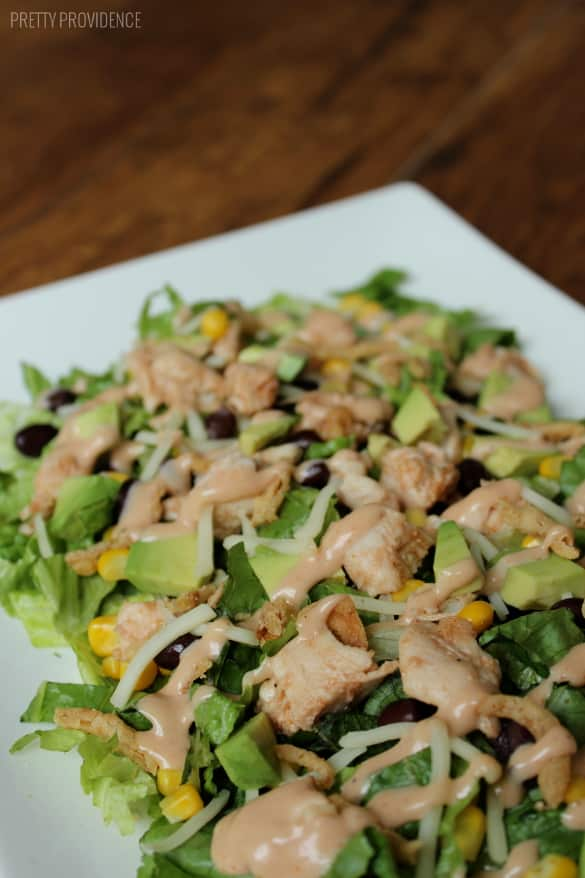 BBQ Chicken Salad - Quick, healthy, and delicious!