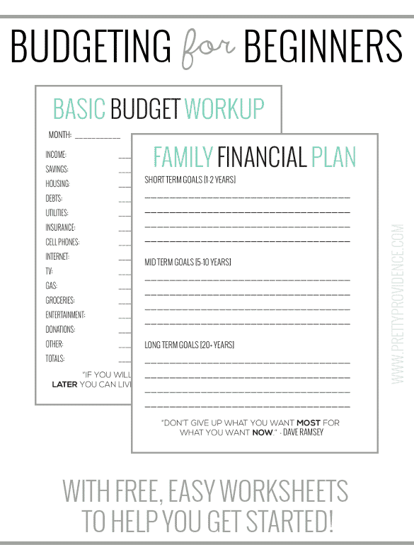 Basic Budgeting with free worksheets to get you started!
