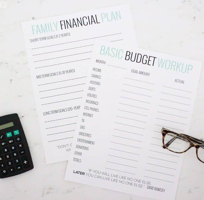Basic Budgeting with Free Worksheets