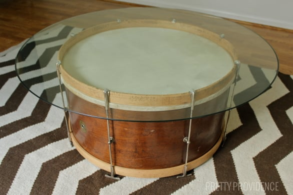 Elegant Repurpose a vintage drum into a coffee table