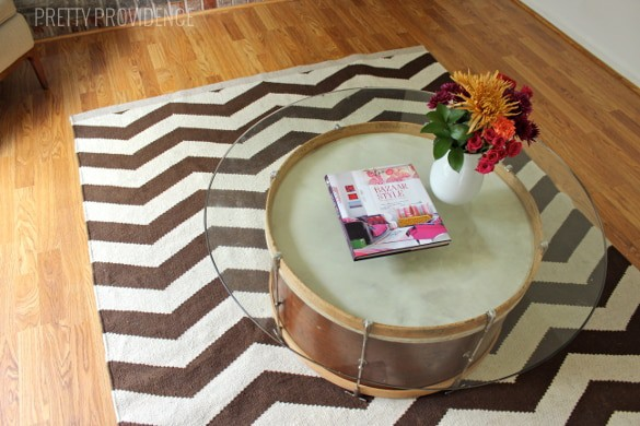 Marvelous Repurpose a vintage drum into a coffee table