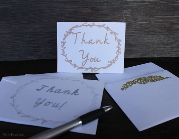 I love the elegant handmade vintage look of these thank you cards!