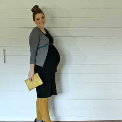 comfy fall maternity look