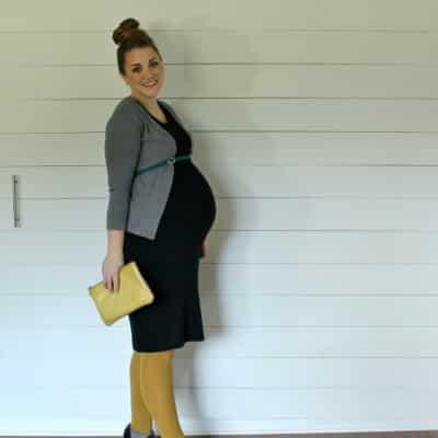 comfy fall maternity look