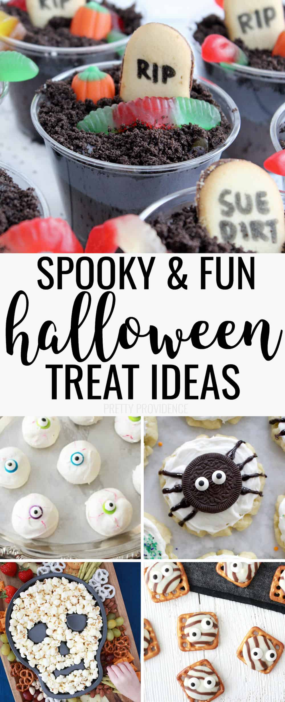 So many fun Halloween treat ideas here! Easy recipes to make for Halloween party or for family night!