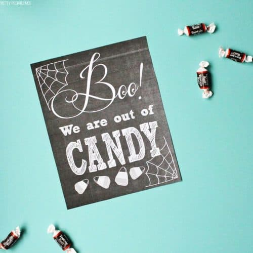 Boo We Are Out of Candy Free Halloween Printable