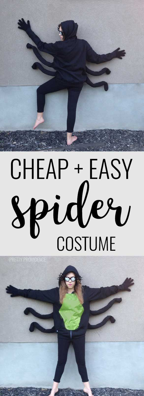 Spider costume that is easy and cheap to make! and no sewing required!